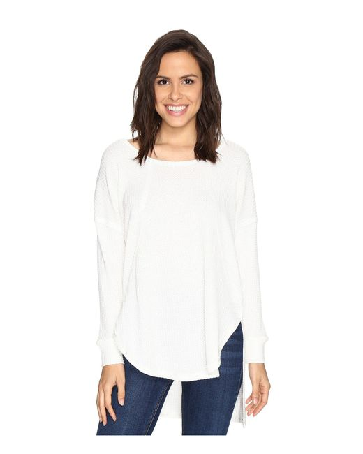 Culture Phit   White Luca Long Sleeve Thermal Top   Lyst
