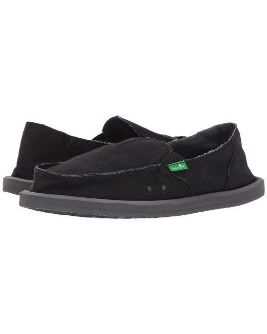 Sanuk - Donna Daily (black) Women's Slip On Shoes - Lyst