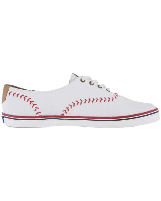 96ffa807d4c3 ... Keds - Champion Leather Pennant (white Leather) Women s Lace Up Casual  Shoes ...