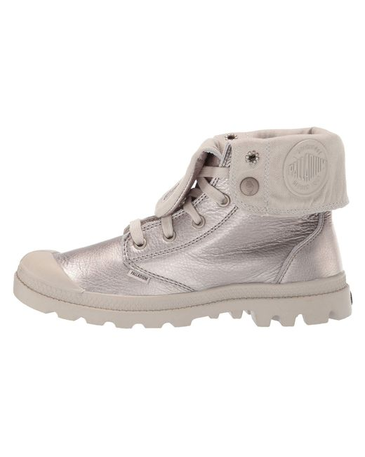 Palladium Metallic Lining Baggy Leather Lyst graygoldsilver 1q8d8F