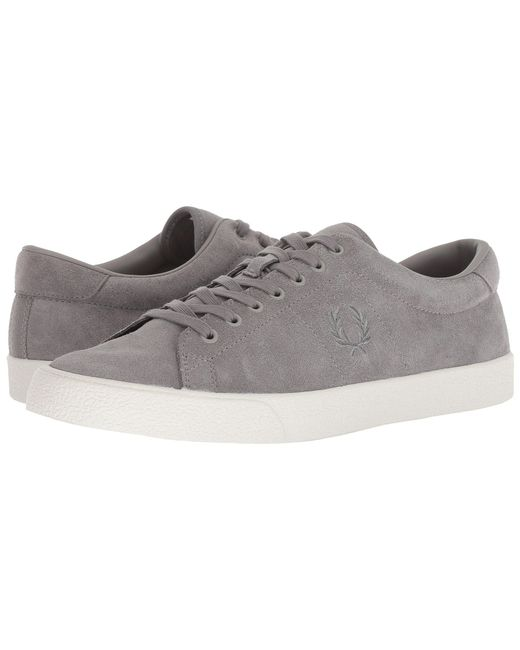 e70a8dda9b5 Lyst - Fred Perry Underspin Suede Crepe Sneaker in Gray for Men ...
