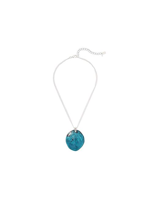Robert Lee Morris Green Patina Circle Pendant Necklace