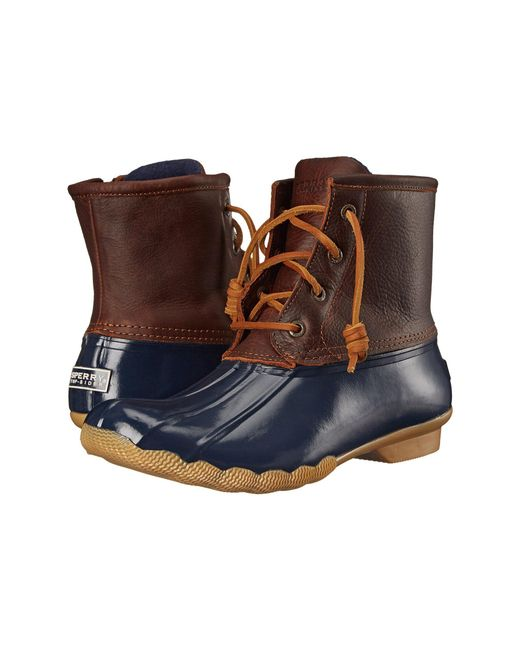 Sperry Top-Sider - Brown Saltwater Water-Resistant Leather Boots - Lyst