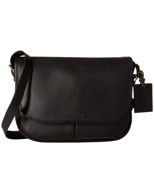 Polo Ralph Lauren - Core Leather Messenger (black) Messenger Bags for Men -  Lyst ... 07f84d1cb8