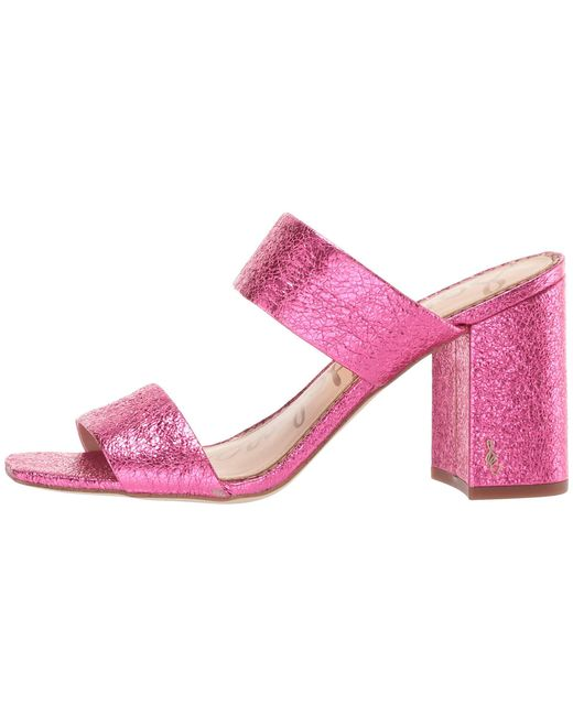 1f49837ff ... Sam Edelman - Pink Delaney (black Kid Suede Leather) Women s Shoes ...