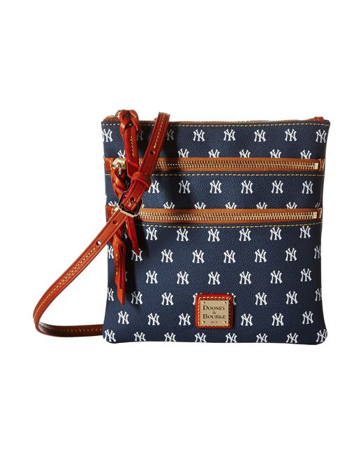 Dooney & Bourke - Blue Mlb Triple Zip Crossbody (new York Yankees) Cross Body Handbags - Lyst