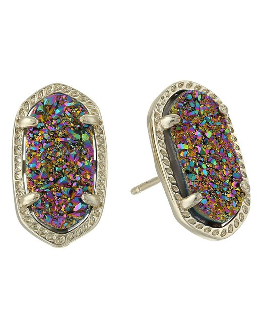 Kendra Scott - Multicolor Ellie Earring (navy Gunmetal/blue Drusy) Earring - Lyst