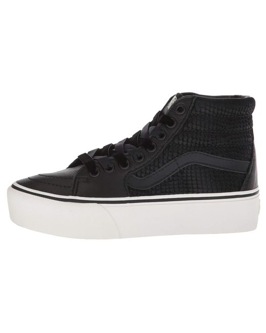 Lyst - Vans Sk8-hi Platform 2.0 ((leather) Snake black) Skate Shoes ... 956c9ac4f