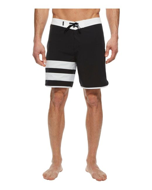 "Hurley - Black Phantom Block Party Solid 18"" Boardshorts for Men - Lyst"