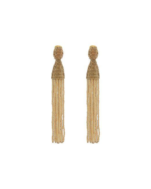 Oscar de la Renta | Multicolor Long Beaded Tassel C Earrings | Lyst