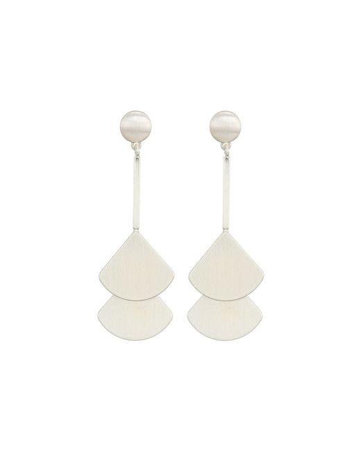 Lucky Brand - Metallic Fan Drop Earrings (silver) Earring - Lyst