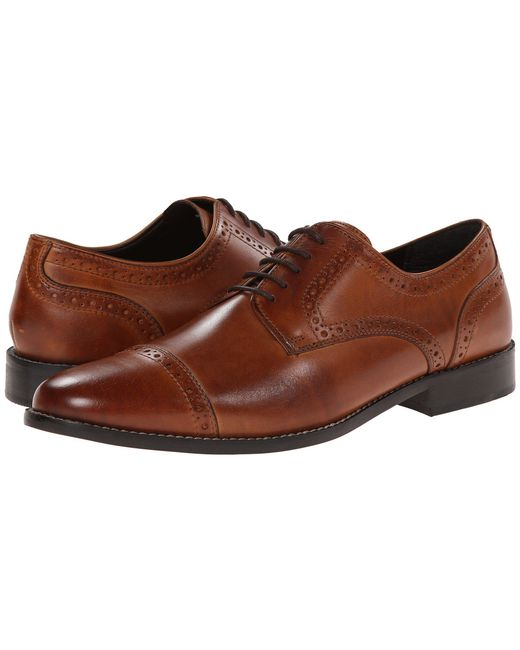 Nunn Bush - Norcross Cap Toe Dress Casual Oxford (brown) Men's Lace Up Cap Toe Shoes for Men - Lyst