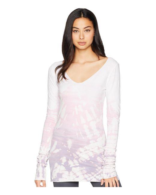 Hard Tail - White Sexy Long Skinny Tee (diagonal Butterfly 2) Women's T Shirt - Lyst