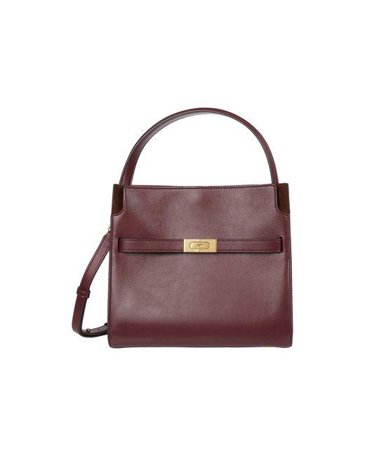 Tory Burch Red Lee Radziwill Small Double Bag Handbags
