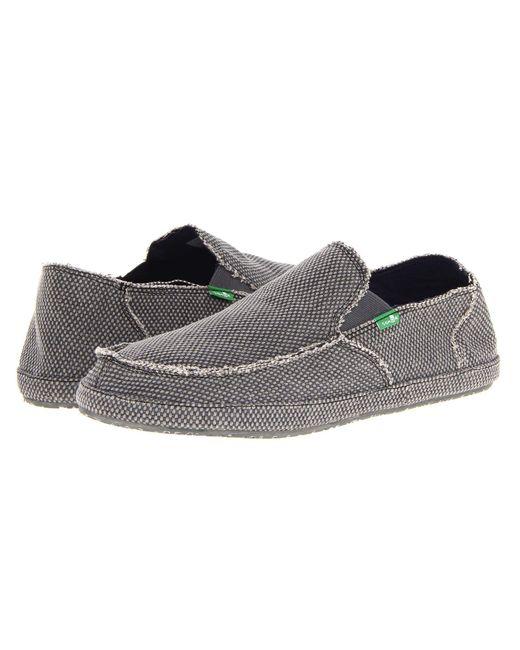 Sanuk - Gray Rounder (brown) Men's Slip On Shoes for Men - Lyst