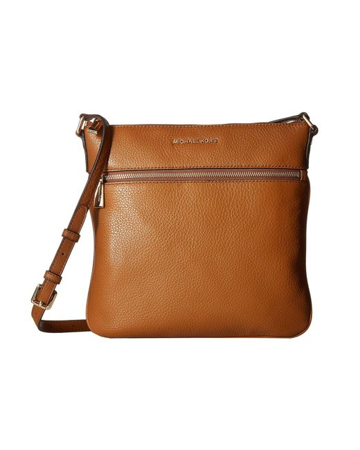 MICHAEL Michael Kors - Brown Bedford Flat Crossbody (acorn) Cross Body Handbags - Lyst