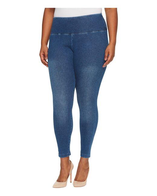 Lyssé - Blue Plus Size Denim Leggings (black) Women's Casual Pants - Lyst
