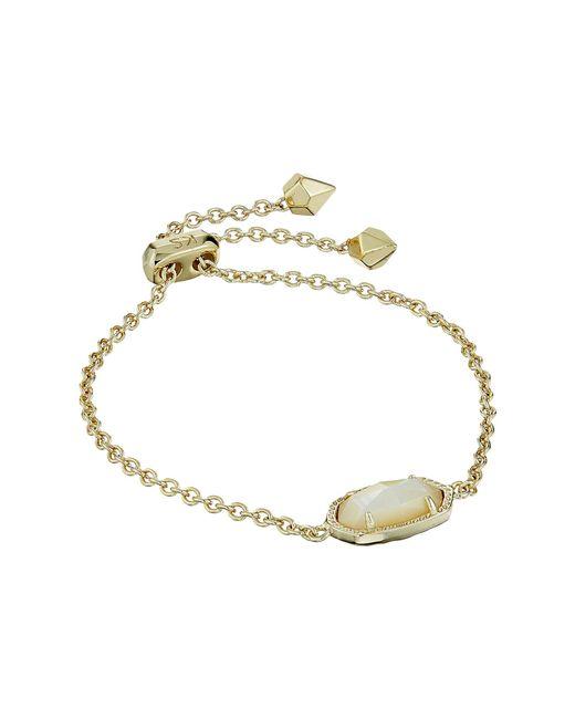 Kendra Scott - Multicolor Elaina Birthstone Bracelet (may/gold/emerald Cats Eye) Bracelet - Lyst