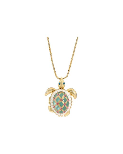 Betsey Johnson - Green Sea Excursion Long Necklace With Turtle Pendant - Lyst