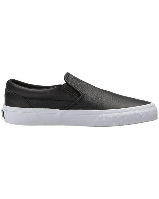 a21b85b6cdcb Lyst - Vans Classic Slip-on Dx ((tumble Leather) Black true White ...