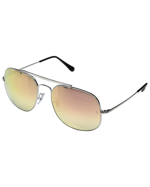 Ray-Ban - Metallic 0rb3561 The General 57mm (shiny Medium Bronze Frame/green Gradient Brown Lens) Fashion Sunglasses - Lyst