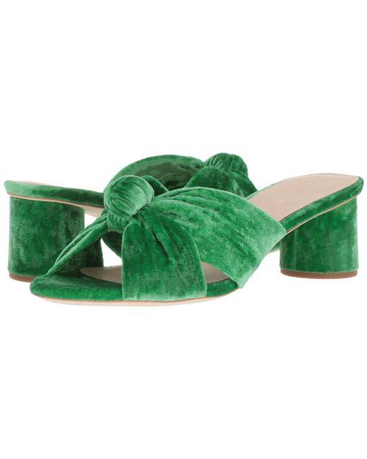 Loeffler Randall - Celeste Mid Heel Knot Slide In Green - Lyst