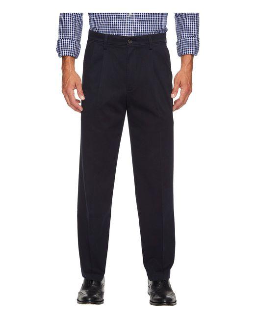 Dockers Blue Easy Khaki D3 Classic Fit Pleated Pants for men
