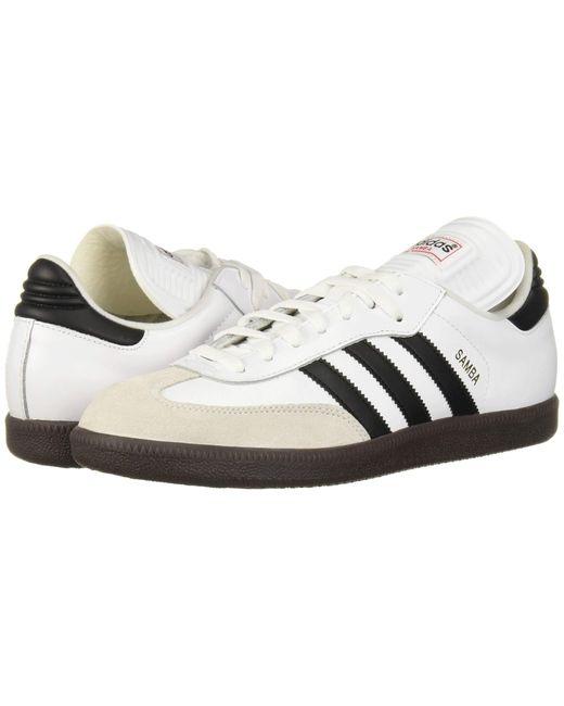Adidas White Performance Samba Classic Indoor Soccer Shoe for men