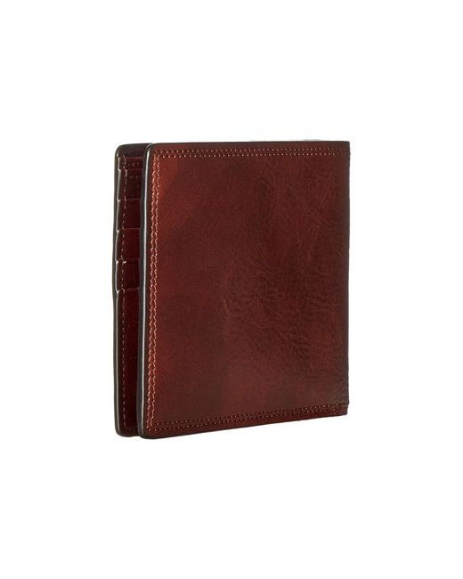 Bosca Brown Dolce Collection - Credit Wallet W/ I.d. Passcase for men