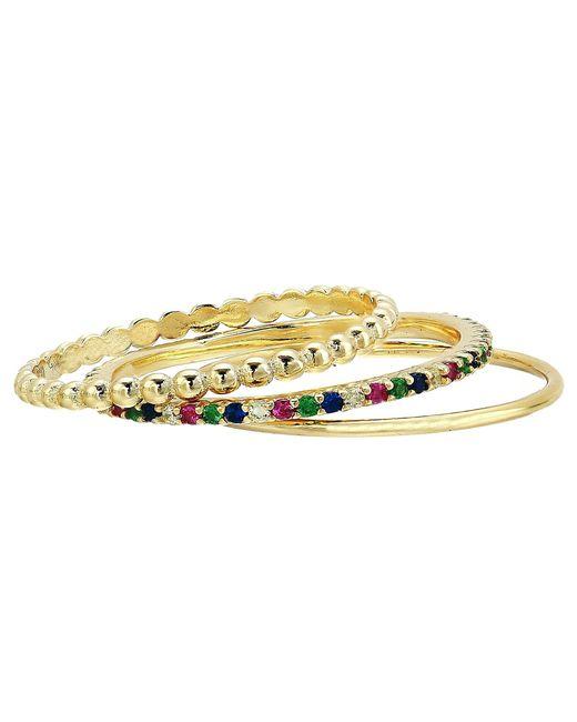 Shashi - Metallic Rainbow Ring Set (gold) Ring - Lyst