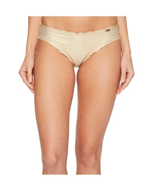 Luli Fama - Multicolor Cosita Buena Wavey Full Bikini Bottom (gold Rush) Women's Swimwear - Lyst
