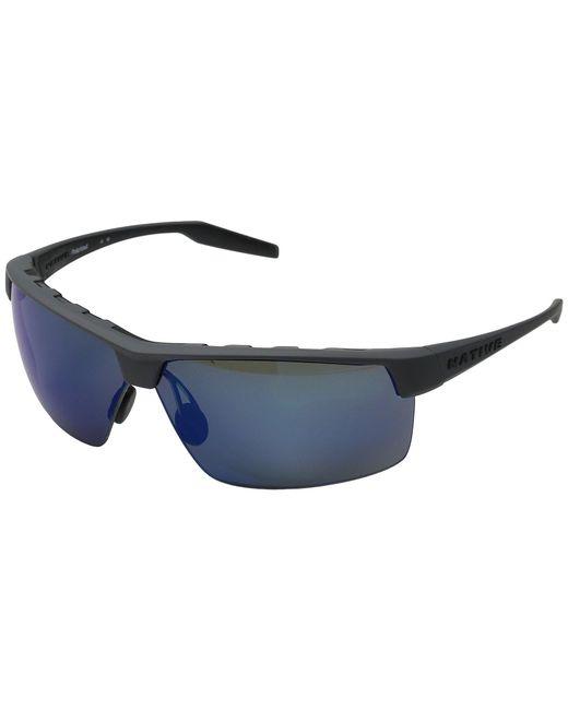 Native Eyewear - Gray Hardtop Ultra Xp (matte Black/violet Reflex Polarized Lens) Sport Sunglasses for Men - Lyst