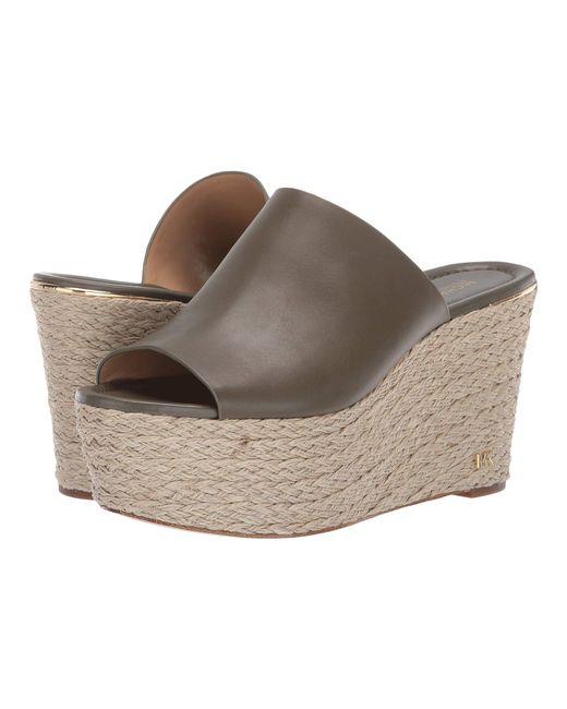 c1d2aa7750ea MICHAEL Michael Kors - Multicolor Cunningham Wedge (olive Vachetta) Women s  Shoes - Lyst ...