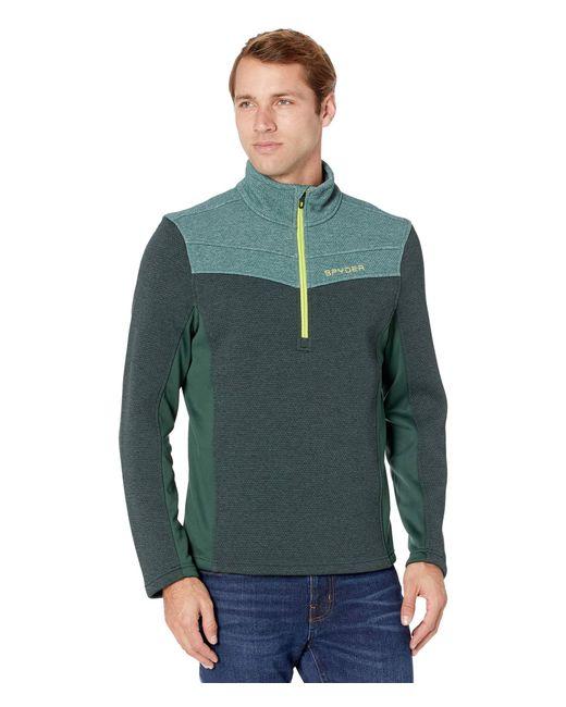Spyder Green Encore 1/2 Zip Fleece Jacket for men