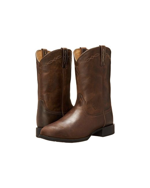 Ariat - Brown Heritage Roper (naturally Cognac) Cowboy Boots for Men - Lyst