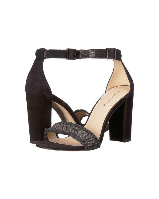 Pelle Moda - Black Bonnie 6 (indigo Linen) High Heels - Lyst