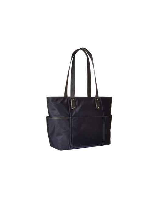 dbf64740207e6a ... MICHAEL Michael Kors - Blue Polly Large Tote (black) Tote Handbags -  Lyst ...