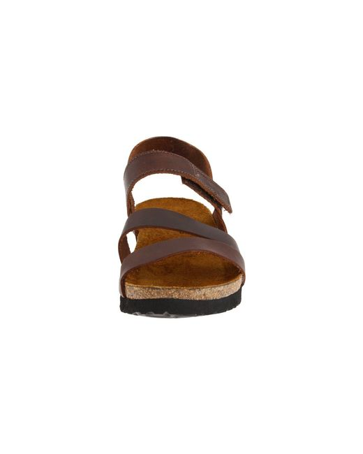1b2b910710a6 ... Naot - Brown Kayla (black Luster Leather) Women s Sandals - Lyst