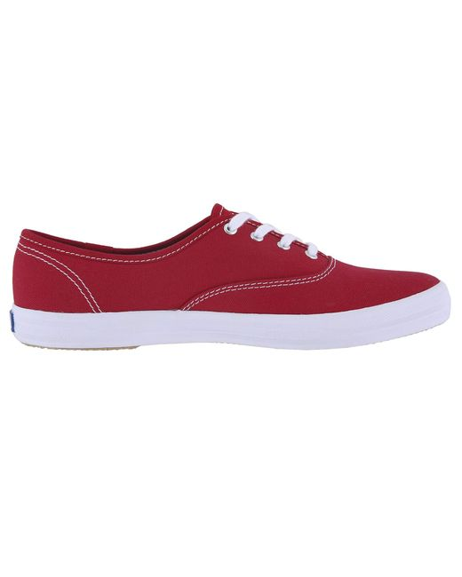 43e1917ee16 ... Lyst Keds - Red Anchor (ketchup Canvas) Women s Lace Up Casual Shoes ...