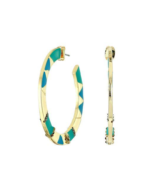 House of Harlow 1960 | Metallic Nelli Hoop Earrings | Lyst