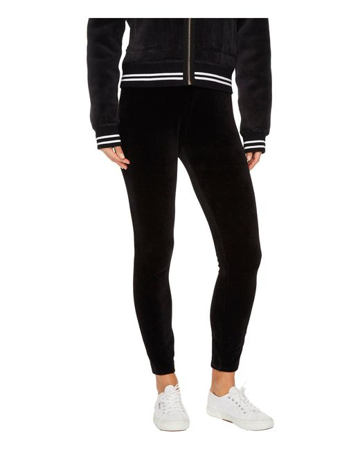 Juicy Couture | Black Stretch Velour Juicy Leggings | Lyst