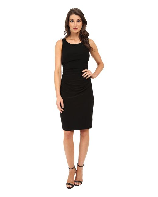 Kamalikulture - Black Sleeveless Shirred Waist Dress - Lyst