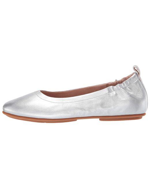 e32cdbcf2abf ... Lyst Fitflop - Metallic Allegro (black) Women s Flat Shoes ...