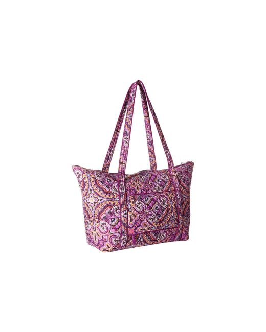2096202eb585 ... Vera Bradley - Purple Iconic Miller Travel Bag (water Bouquet) Luggage  - Lyst ...