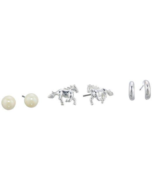 Lauren by Ralph Lauren - Metallic Horse Trio Earrings Set (gold) Earring - Lyst