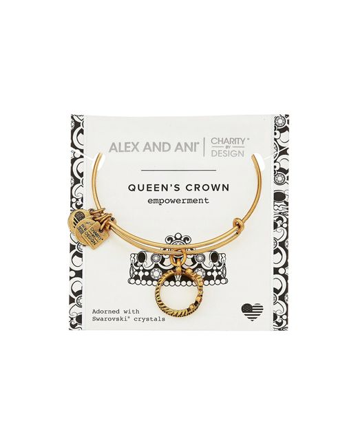 ALEX AND ANI - Metallic Charity By Design Queen's Crown Bangle - Lyst