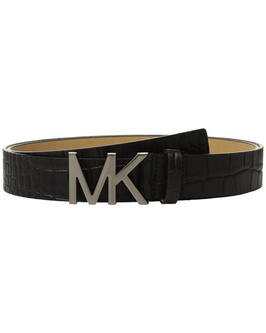 MICHAEL Michael Kors - Croc Logo Belt (black) Women's Belts - Lyst