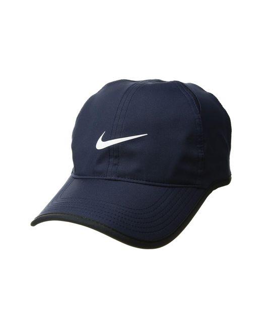 fb1342e0b80 Lyst - Nike Featherlight Cap (obsidian black black white) Caps in ...