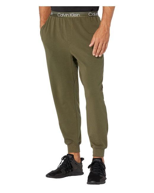 Calvin Klein Green Structure Lounge Joggers for men