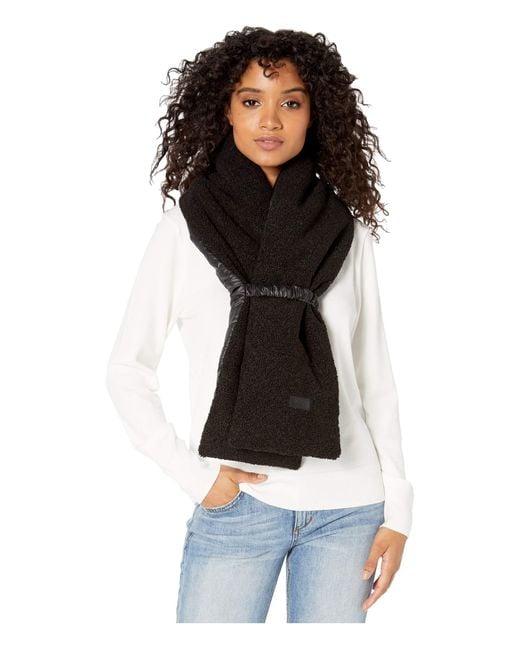 Ugg Black Fabric To Sherpa Puffer Scarf